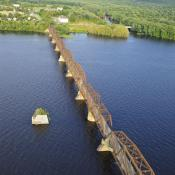 Bill Thrope Walking Bridge Aerial