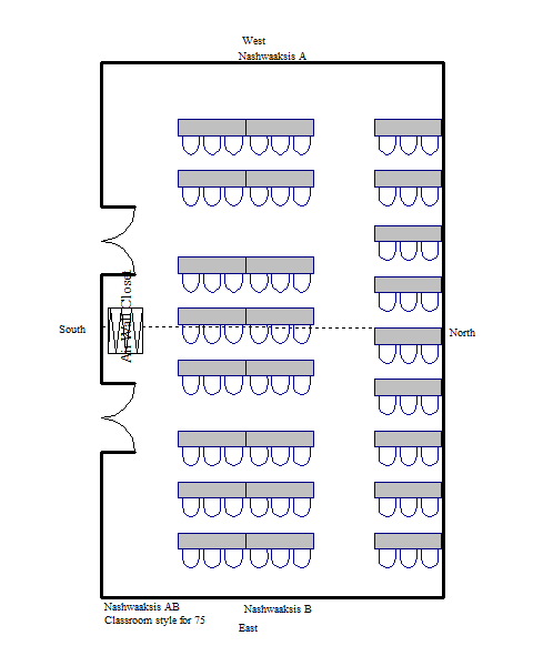 Classroom Layout Dimensions ~ Fredericton convention centre capacity charts